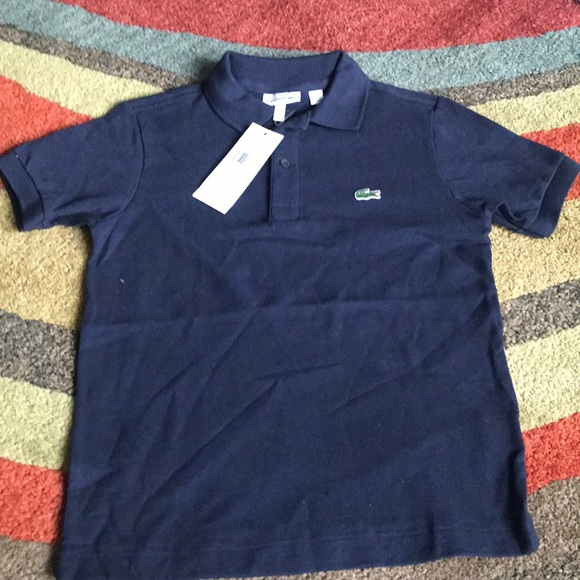 44d7da8c Lacoste Shirts & Tops | Navy Color Polo Shirt Size 8a8yr | Poshmark